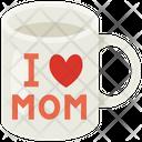 Mug I Love Mom Woman Icon