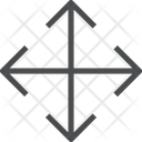 Direction Arrow Maximize Expand Icon