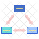 Multi Directional Cycle Diagram Icon