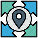 Multi Directions Direction Gps Icon