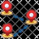 Multi Location Destination Location Pin Icon