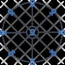 Multi Location Position Cartography Icon