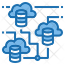 Multi Server Cloud System Online Icon