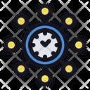 Multi Tasking Work Employee Icon