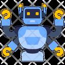 Futuristic Robot Multi Tasking Robot Robot Hands Icon