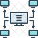 Multicast Cyber Security Icon