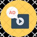 Multimedia Video Ads Icon