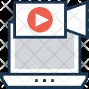 Multimedia Movie Laptop Icon