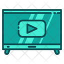 Multimedia Youtube Tv Icon