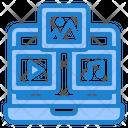 Multimedia Management Database Icon