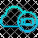 Cloud Video Camera Storage Icon