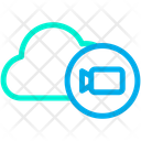 Cloud Video Camera Storage Icon