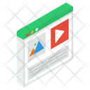 Multimedia Website Icon