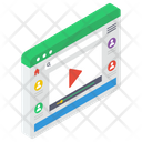 Multimedia Website Video Streaming Video Website Icon