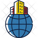Multinational Company Building Office Icon
