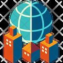 Corporation Corporate Organization Worldwide Icon