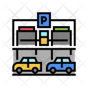 Multiple Entry Car Parking Equipment Icon