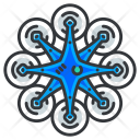 Multiple fan drone Icon