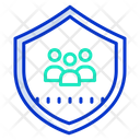 Multiple Users Secure Users Security Team Icon