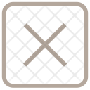 Multiply Sign Delete Icon