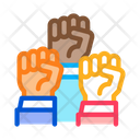 Multiracial Fists Discrimination Icon
