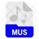 Mus File Format Icon
