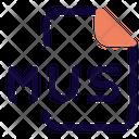 Mus File Audio File Audio Format Icon