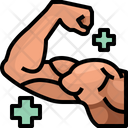 Muscle Bodybuilder Strong Icon