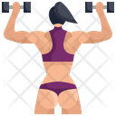 Muscle Bodybuilding Exercise Icon