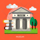 Museum Building Construction Icon