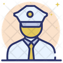 Museum Guard Security Guard Gun Man Icon