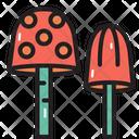 Camping Plants Mushroom Icon