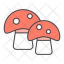Mushroom Vegetable Healthy Food Icon
