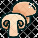 Mushroom White Mashroom Vegetable Icon