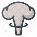 Mushroom Cloud Atomic Icon