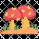 Mushroom Fungi Vegan Icon