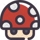 Mushroom Mario Bros Plant Icon