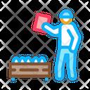 Mushroom Farm Worker Icon