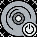 Music Cd Power Icon
