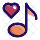 Music Love Note Icon