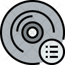 Music Cd List Icon