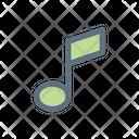Music Tone Half Tone Icon