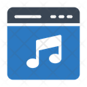 Music Webpage Online Icon
