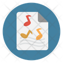 Music Melody Document Icon