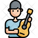 Guitar Activity Man Icon