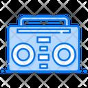 Music Tape Recorder Wireless Transmission Icon