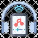 Music Streaming Headphone Icon