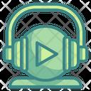 Music Player Headphones Icon