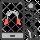 Music Listening Online Icon