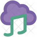 Music Note Cloud Icon